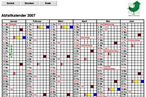 Online-Abfallkalender